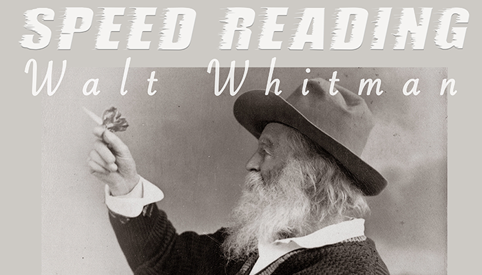 Speed Reading Walt Whitman Brazos Bookstore